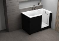 Акриловая ванна 130 х 75 PERE черная