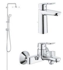 Набор смесителей для ванной Grohe BauLoop с душевой системой New Tempesta хром 123214TM