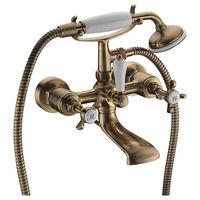 Смеситель двухвентильный для ванны с душем Imprese Cuthna бронза 10280 antiqua-n