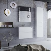 """Подвесная тумба (мебель) """"FONDA AIR"""" 70 цв. белый с умывальником """"Канте"""", с двумя фасадами MV0000610"""