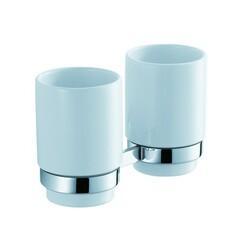 Пара керамических стаканов с настенным держателем Kraus KEA-11116CH