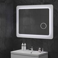 "Зеркала для ванной комнаты ""КОСМО ZOOM"" 98*83 БЕЛОЕ, С ЛИНЗОЙ Sanwerk ZU0000164"