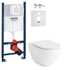 Инсталляция Grohe Rapid SL 3-в-1 3884000G + Унитаз подвесной Volle Olivia с сиденьем Slim slow-closing 13-45-165 3884000G +13-45-165