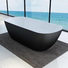 Ванна отдельностоящая с цветным фасадом DEVIT 18056110B LAGUNA, чорный матовый 180*80*56 см
