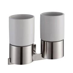 Пара керамических стаканов с настенным держателем Kraus KEA-14416BN