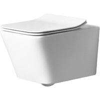 Унитаз Rea Ramon подвесной, без ободка, сиденье дюропласт slim n, белый (REA-C8536)