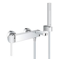 Смеситель Grohe Plus однорычажный для ванны с душевым гарнитуром (33547003)