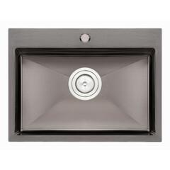 Кухонная мойка Qtap D5843BL 2.71.0 мм (QTD5843BLPVD10)
