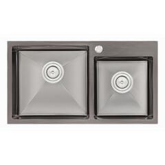 Кухонная мойка Q-tap S7843BL 2.7/1.0 мм (QTS7843BRPVD10)