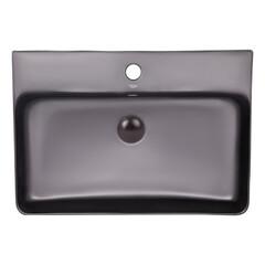 Раковина подвесная с донным клапаном Q-tap Nando 600*420*130 MATT BLACK (MBLA 404/F008)