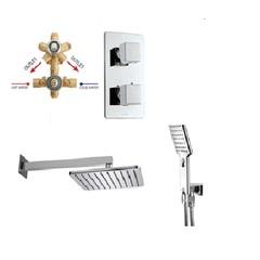Душевая система M00673 030 COSMO/2 Bossini (внешняя часть + внутренняя часть +ручной душ+ верхний душ) , хром