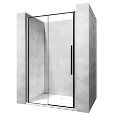 Душевая дверь Rea Solar 100x195 безопасное стекло, прозрачное (REA-K6512)