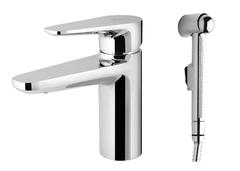 Смеситель для умывальника с гигиеническим душем и донным клапаном Inspire F5004000