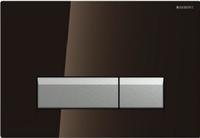 Смывная клавиша Geberit Sigma40 115.600.SQ.1 (коричневое стекло)