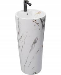 Умывальник отдельностоящий Rea Blanka 40x40 Marble Marmur Matt (REA-U8704)