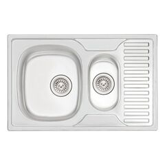 Кухонная мойка Qtap 7850-B Satin 0,8 мм (QT7850BSAT08)