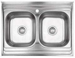 Кухонная мойка Lidz 6080 0.8мм Decor LIDZ6080DEC08