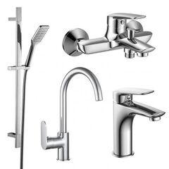 Набор смесителей для ванны и кухни Imprese PL хром 51003055