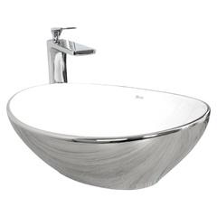 Умывальник Rea Sofia 34,5x40,9 silver/white (REA-U0420)