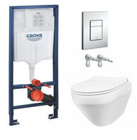 Инсталляция Grohe Rapid SL 38772001 + Унитаз подвесной Am Pm Spirit FlashClean C701700WH 38772001+C701700WH