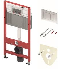 Комплект TECEbase (инсталляция+панель смыва Tecenow +крепления+звукоизолирующая прокладка), 1120 мм 9.400.412