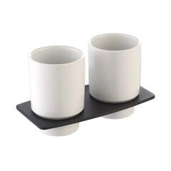 Пара керамических стаканов с настенным держателем Kraus KEA-13316ORB