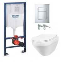 Инсталляция Grohe Rapid SL 39501000 + Унитаз подвесной Am Pm Spirit FlashClean C701700WH 39501000+C701700WH