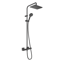 Душевая система Hansgrohe Vernis Blend Showerpipe Reno 230 26286670 черная матовая