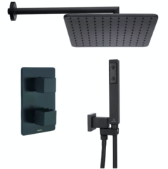 Душевая система Bossini M 80201 COSMO SQUARO Black Matt 28x28см