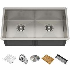 Кухонная мойка c аксессуарами Kraus Kore KWU112-33
