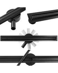 Черный душевой трап Calani Eco360 Slim Black 60 CAL-G0025