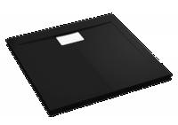 Квадратный душевой поддон в комплекте с сифоном Polimat Vegar черный 1000х1000 00200