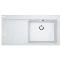 Кухонная мойка Franke Mythos MTG 611, крыло слева (114.0502.866) гранитная - врезная - цвет Белый