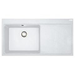 Кухонная мойка Franke Mythos MTG 611, крыло справа (114.0502.868) гранитная - врезная - цвет Белый
