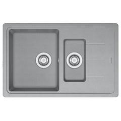 Кухонная мойка Franke Basis BFG 651-78 (114.0565.111) гранитная - врезная - оборотная - цвет Серый камень