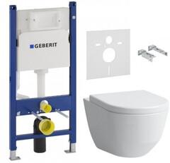 Инсталляция GEBERIT Duofix 458.126.00.1 + унитаз LAUFEN Pro Rimless H8619570000001 + сиденье Soft Close дюропласт