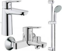Набор смесителей для ванны 3 в 1 Bau Edge 123367M