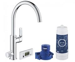 Смеситель для кухни с фильтром GROHE BLUE PURE EUROSMART 30383000