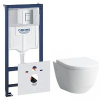 Комплект унитаз подвесной Laufen Pro Rimless + сиденье + инсталляция Grohe Rapid SL H820966+H8969513B+38772001+37131000