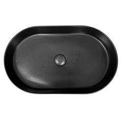 Раковина накладная SMA42SO60023 овальная, 60х36 см, без отв под смеситель, цвет- черный