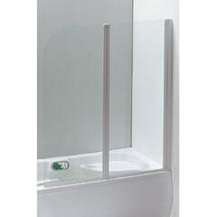 Шторка на ванну 120*138 см, цвет профиля белый Eger 599-121W