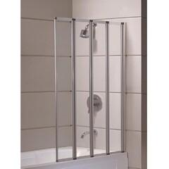 Шторка на ванну 89*140 см, цвет профиля хром Eger 599-110