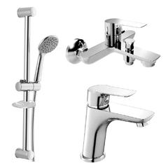Набор смесителей для ванной Imprese Kucera с душевым гарнитуром хром 0510105670