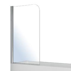 Штора на ванну односекционная 1400*800мм, поворот на 180° прозрачное стекло 5 мм