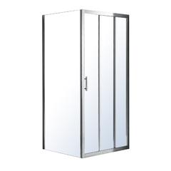 Душевая кабина Eger LEXO 100*80*195см с 3хсекционной раздвижной дверью, прозрачное стекло 6мм, хром