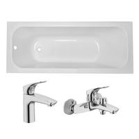 Ванна Volle Fiesta 170x70 без ножек+смеситель для ванны и умывальника Volle Orlando хром (TS-1770435+15192100+15191100)