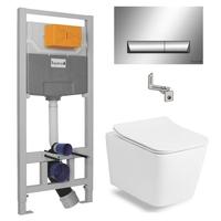 Набор инсталляция Imprese 3в1 с унитазом VOLLE Libra Rimless 13-41-160+i8120