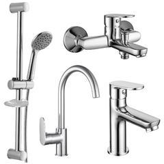 Набор смесителей для ванны и кухни Imprese LASKA (4 в 1) 51004055