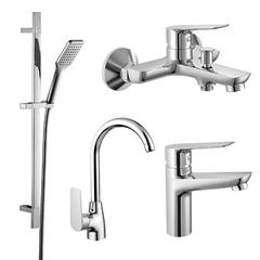 Набор смесителей для ванны и кухни (4 в 1), kit30095