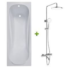 Ванна FIESTA 170*70*43,5см без ножек (TS-1770435) + CENTRUM W система душевая (Т-10510)
